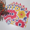 Partido favores de la boda Decoración roja flor de papel Servilletas