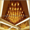 Ceiling DecorationのためのブラウンCrystal Glass Craft Chandelier Lighting
