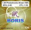1.56 Obiettivo ottico fotocromico del Brown Hmc 70/65mm