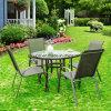 Mobiliário de Jardim define, mesa e cadeiras de aço