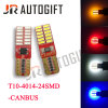 Bulbos T10 4014 do diodo emissor de luz do carro 24 luzes do afastamento de SMD Canbus