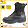 Black Leather Tactical Outdoor Polícia Botas