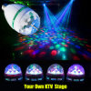 Mini RGB Full Color Rotating LED Lamp Stage Light 3W met E27 Base voor Disco DJ