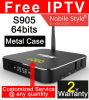 자유로운 IPTV Android5.1 지능적인 텔레비젼 상자 2GB+8GB T95 금속 주거
