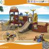 海賊船デザイン子供のための屋外のプラスチック運動場装置