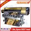 Impressora solvente de Eco do grande formato de Digitas do Inkjet de Funsunjet Fs-1802g com cabeças de um Dx para a cópia