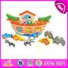 Positionnement réglé de jouet de 2014 de nouveau bloc en bois de conception enfants de reste, jeu éducatif de jouet d'enfants, jouet animal W11f041 d'enfants de jouet