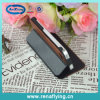 Cuero de la PU + tirón de madera caja del teléfono celular para iPhone5