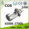 Indicatore luminoso 6500K 2700K dell'automobile del motociclo LED della PANNOCCHIA di M4 H4 24W