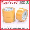 La calidad garantizó la cinta adhesiva amarilla del embalaje
