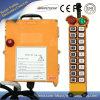 18 canales Telecrane F21-18d/Control remoto de Radio Control Remoto de la grúa/Controlador de la grúa de dos velocidades