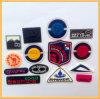 Etiqueta de borracha, Etiqueta de feltro, PVC / Silicon crachá para vestuário