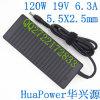 Neues 120W19V6.3A 5.5X2.5 Laptop Power Adapter für Toshiba Liton Notebook