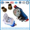 Tipos inteligentes pagados antecipadamente do medidor de água com cartões de IC/RF