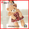 Urso da peluche do luxuoso da manufatura do urso da peluche de China com saia floral