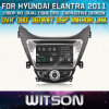 ヒュンダイElantra 2011年のCarのためのWitson DVD GPS 1080P DSP Capactive Screen WiFi 3G Front DVR Camera
