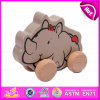 2015 Form Pull String Line Toy, Cartoon Children Wooden Pull und Push Toy, Top Quality Wooden Pull Toy mit Promotions W05b078