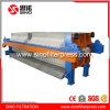 1500 PP Filtre à membrane encastré Presse hydraulique avec le plateau égouttoir