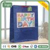 Bolsa de papel azul del regalo del juguete de la ropa del supermercado del recuerdo del cumpleaños