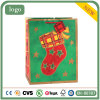 Bolsa de papel roja del regalo del Patten del calcetín de la Navidad
