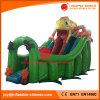 中国の膨脹可能なおもちゃの/Jumpingの弾力がある城の警備員のカメレオンのスライド(T4-250)