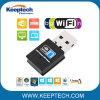 小型USB無線WiFiのアダプター300mのポータブルUSB 2.0のネットワークカードUSB WiFiの受信機のアダプター