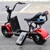 O veículo elétrico da bicicleta da motocicleta do trotinette com 2 unidades remove a bateria