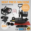 sublimación ausente de la transferencia de la máquina de la prensa del calor del oscilación 6in1