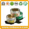 Круглая коробка чая олова с качеством еды, чонсервной банкой чая