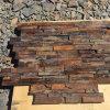 Ardoise rustique de panneaux muraux de pierres empilées (SMC-SCP471)