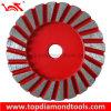 Roue de meulage de tasse de Turbo du diamètre 4  pour le béton de meulage