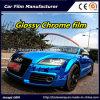 De blauwe Glanzende VinylFilm van de Omslag van de Auto van de Film van het Chroom Vinyl voor Vinyl van de Omslag van de Auto van de Auto het Verpakkende