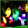 Het zonne OpenluchtKoord steekt Waterdichte Licht van de 50 LEIDENE Lamp van het Spook het Zonne voor Tuin, Terras, Werf, Huis, de Decoratie van Partijen aan