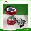 多機能の太陽ランプ携帯電話の料金およびラジオが付いている屋外のハイキングの6つのLEDの携帯用太陽キャンプのランタンライト