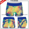 Do algodão elevado da aptidão da cintura do OEM Shorts Running das mulheres