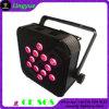 12X10W Mini LED de batería agotada PAR 64 Iluminación de escenarios