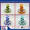 Nastro riflettente del PVC di disegno di griglia di colori del commercio all'ingrosso due con la pellicola della grata di cristallo