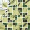 Mosaico fresco del vidrio cristalino del color verde de Foshan para la pared