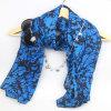 Blauer Azo freier Voile-Schal für Frauen-Form-Zusatzgerät