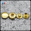 Custom brillant couleur dorée ressort en métal bouton Snap