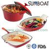 De Pan van de Voorraad Pot+ Roaster+Frying van het Email van het Koolstofstaal/Reeks Cookware