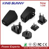 4 Standard Detachable Plug EU, UK 의 저희 의 Au를 가진 Good 대중적인 Quality 10W 5V 2.1A Universal USB Power Sourcing Equipment Charger Power Supply