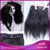 Straight crespo Virgin brasiliano Hair Clip in Hair Extension