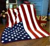 De Deken van de Vlag van Fleecethe Verenigde Staten van het Koraal van de Polyester van 100%