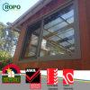 Cor Cinza Janela de vidro corrediço de PVC com padrão da Austrália