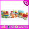 Thomas Wooden Block Toy Train Set for Kids, Wonderful and Safe Wooden Big Block Train Toy Toddler Toy W05c023