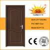 Portas interiores do PVC do MDF do quarto de China, portas do quarto (SC-P119)