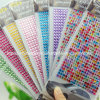 Colorful Round Acrylic Rhinestone Sticker Self Adhesive Sticker
