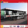 北アフリカのための半40FTの容器輸送の平床式トレーラーのトレーラー