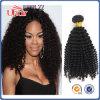 最上質の自然なカラーねじれたカールのバージンのブラジルの毛の拡張人間の毛髪